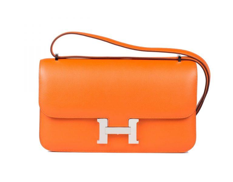 The Hermes Constance Elan in signature orange