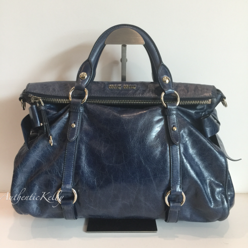 f697cf9fba17 MIU MIU Navy Ribbon Vitello Lux Bag MM