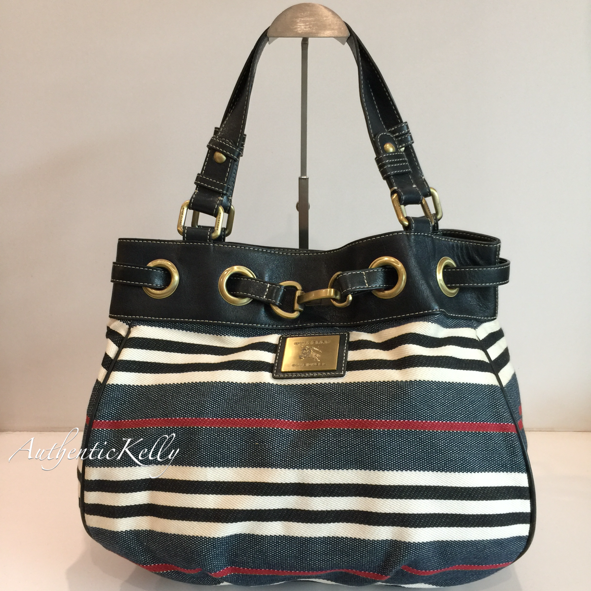 146cdfe08e0a BURBERRY Blue Label Blue Marine Canvas Tote – AuthenticKelly