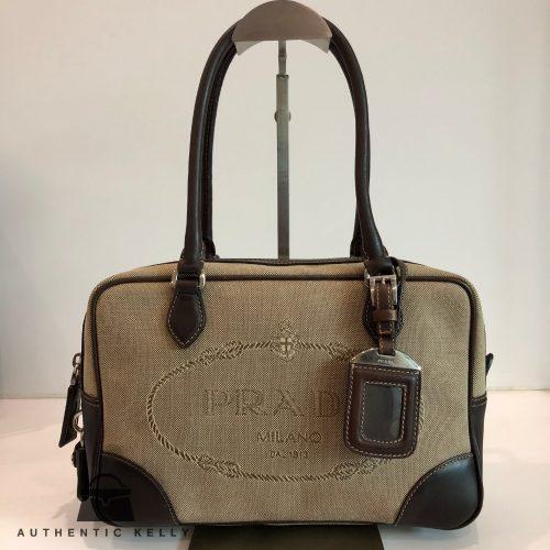 0ef9763db08031 PRADA Logo Jacquard Mini Bag